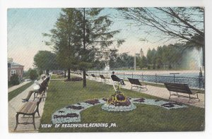 PA Reading City Park View of Reservoirs Vintage Langdorf ca 1910 Postcard