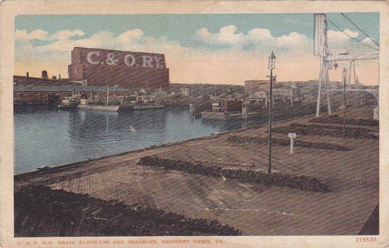 C&O Elevator and Wharves , NEWPORT NEWS , Virginia, 1900-10s