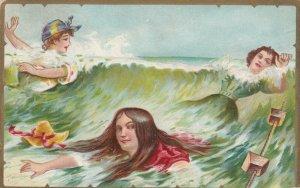Three Women playing in the water, PU-1908