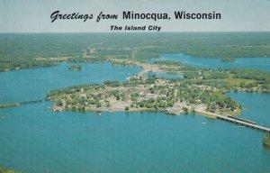MINOCQUA , Wisconsin, 50-60s ; Air View