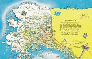 ALASKA, 1960s; Map and State Flag poem