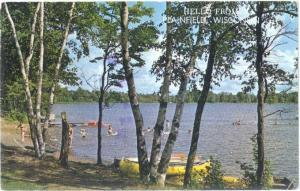 Scenic Scene Hello from Plainfield Wisconsin WI