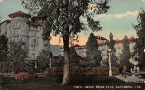 Hotel Green from Park, Pasadena, California, Early Postcard, Used in 1915
