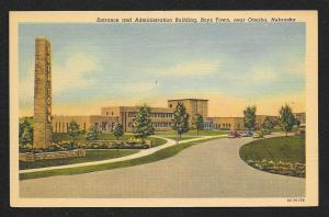 Entrance & Administration Building Boys Town Omaha Nebraska Unused c1950