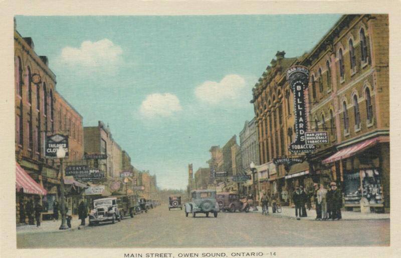 OWEN SOUND , Ontario , 1930s ; Main Street : Version-4