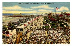 FL - Daytona Beach. Ocean Front Park, Beach View