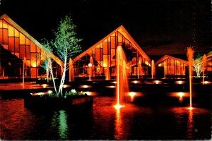 Oklahoma Oklahoma City National Cowboy Hall Of Fame Garden Pool and Fountains...