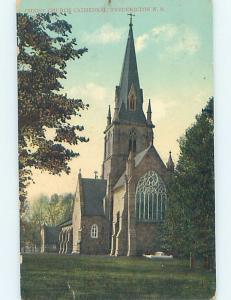 Divided-Back CHURCH SCENE Fredericton New Brunswick NB A9779