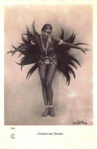 Josephine Baker Entertainer Signed Walery, 531 RPPC postcard