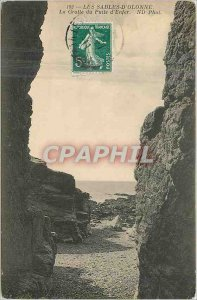Old Postcard Les Sables d'Olonne The Well of Hell Cave