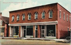 Beall's Block Sunderland ON Ontario C. Switzer Boots & Shoes UNUSED Postcard D93
