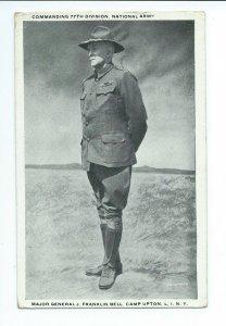 Postcard Major General J. Franklin Bell Camp Upton NY VPC02.