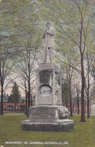 MEADVILLE, Pennsylvania, PU-1909; Monument On Diamond