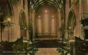 Wimborne Minster Choir East Cathedral Postcard