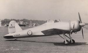 Gloster F5/34 Military Liverpool War Real Photo Aircraft Plane Postcard