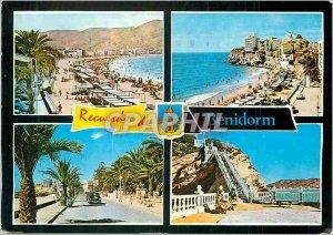 Postcard Modern Recuerdo Benidorm Espana