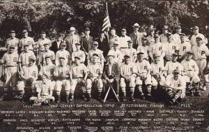 Florida St Petersburg Half-Century Softball Club 1948 Real Photo