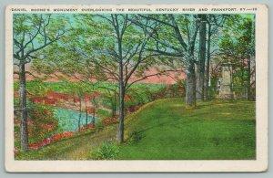 Frankfort Kentucky~Daniel Boone's Monument~Vintage Postcard