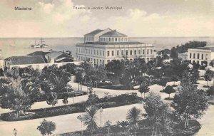 Theater & Municipal Gardens Madeira Portugal 1910c postcard