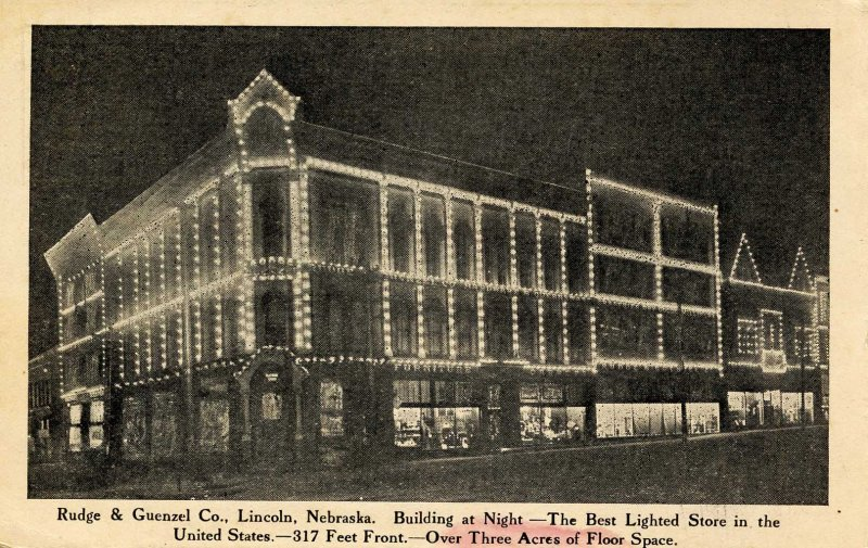 NE - Lincoln. Rudge & Guenzel Co., Best Lighted Store in the US