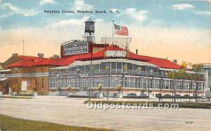 Amusement Park Postcard Post Card Brighton Casino Brighton Beach, New York, N...