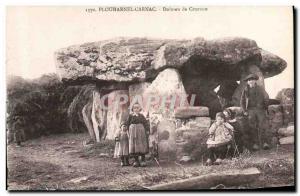 Old Postcard Dolmen Menhir Carnac Plouharnel dolmen Crucuno Children