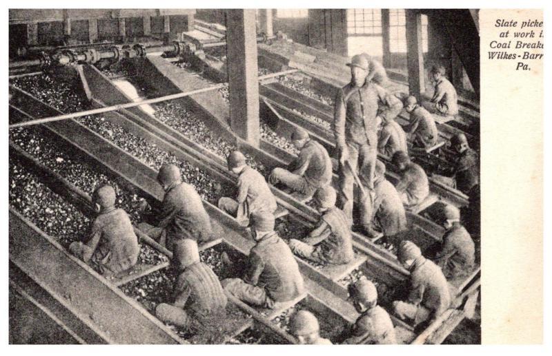 Pennsylvania , 8 yr ol d Boys , Slate Pickers at work in Coal Breaker