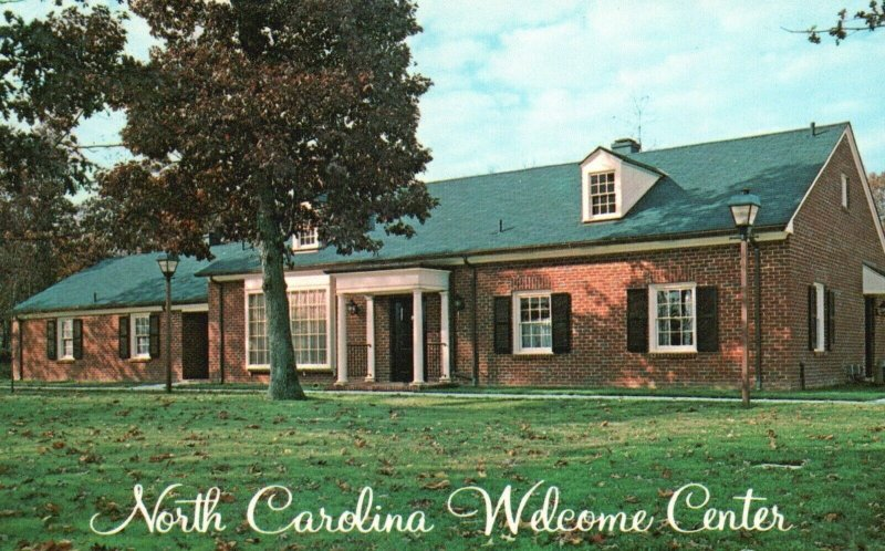 North Carolina Welcome Centers, NC, Unused Chrome Vintage Postcard g8961
