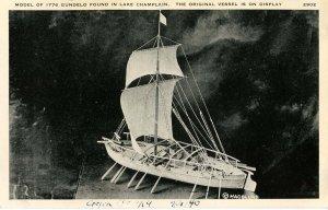 Model of 1776 Gundelo found in Lake Champlain