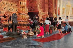 Thailand Wat Phra Keo Temple of Emerald Budha Bangkok