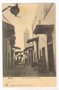 TUNIS. La rue du Souk-el-Belat, 00-10s