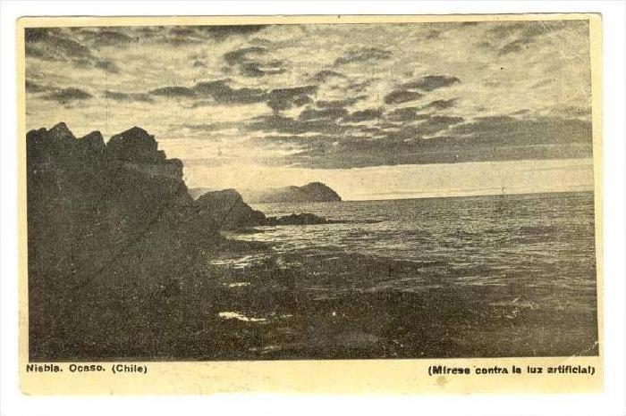 Niebla. Ocaso. (Chile), PU-1938