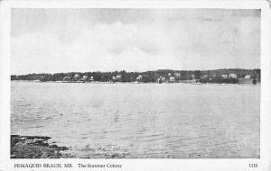 Pemaquid Beach Maine Summer Colony Waterfront Antique Postcard K85166