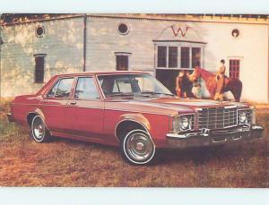 Unused 1977 car dealer ad postcard FORD GRANADA FOUR DOOR SEDAN o8460-17