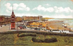 England Marine Parade Margate, Kent, Coast Beach, Tramway, Clock Tower 1919