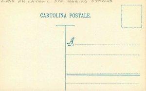 Artist impression C-1910 Philatelic San Marino Stamps Postcard 21-9481