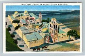 Chicago IL-Illinois, World's Fair, Tunisia Land of The Bedouins Linen Postcard