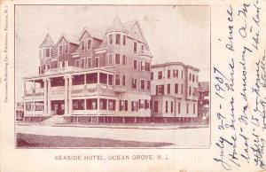 OCEAN GROVE NEW JERSEY SEASIDE~PATTERSON PUBLISHING POSTCARD 1907