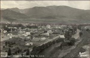 Steamboat Springs CO Birdseye View SANBORN Real Photo Postcard