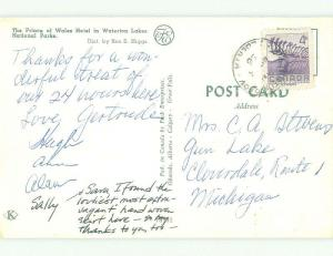 Pre-1980 PRINCE OF WALES HOTEL Waterton Lakes National Park ALBERTA HQ1442