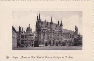 Justice De Paix, Hotel De Ville Et Basilique Du St. Sang, Bruges (West Flande...