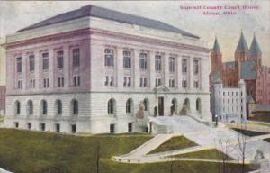Ohio Akron Summit County Court House 1909