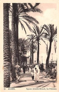 Square Aristide Briand, Les Palmiers Alger Algeria 1943 Missing Stamp