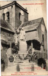 CPA BARFLEUR - Monument des Marins et Soldats - Église (149191)