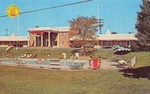 Hagerstown Maryland~Quality Motel~Poolside~Office~1970s Postcard