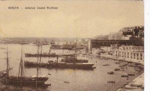 MALTA, 1900-1910´s; Interior Grand Harbour