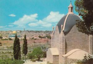 The Church Of Dominus Flevit Dome Of The Rock Jerusalem Postcard