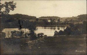 Montrose PA Lake Mt. Rose c1910 Real Photo Postcard