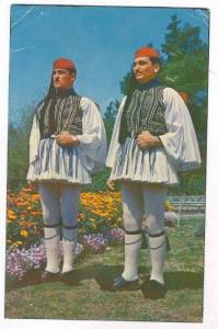 Evzones in the National Garden, Greece, PU-1960