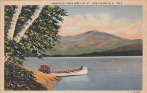 New York Lake Placid Whiteface From Birch Point